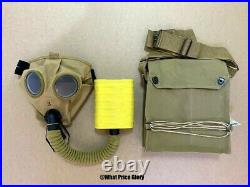 Us Wwi & Wwii Corrected English Model Gas Mask Respirator And Bag
