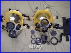 Vintage 1984 SCOTT Medium Gas Mask Respirator Rare Semi-Transparent