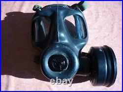 Vintage LBR Co 1973 SR6 N British Army Full Face GAS MASK SAS Respirator + bag