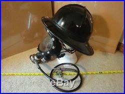 Vintage MSA Fireman, Firefighter helmet & Scott gas/oxygen mask, respirator