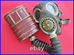 Vintage Original British / Canadian WW2 Gas Respirator Mask With Canister dated