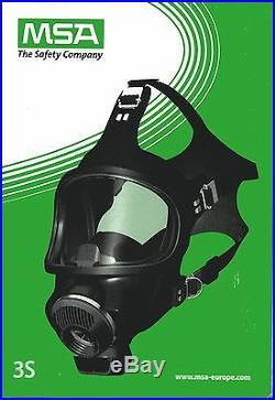 Vollmaske Gasmaske MSA Auer 3S ohne oder mit Filter, frei wählbar