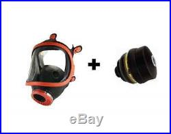 Vollmaske inkl Filter ABEK A2B2E2K2 Kombinationsfilter Gasmaske Maske Atemschutz