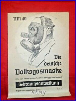 WWII German Civil Duty Respirator Gas Mask UNUSED COMPLETE IN BOX