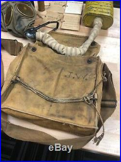 WWI WW1 US U. S. Gas Mask, Doughboy, Army, Original, Respirator, Military, War COMPL